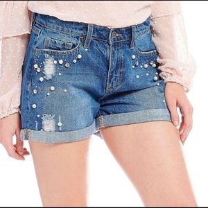 Buffalo David Bitton- Pearl Embellished Shorts- 27